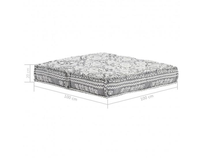 Sonata Диван, 100x100x20 см, текстил, светлосив