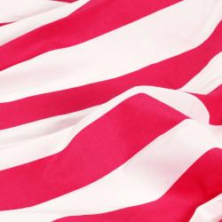 Sonata Завеси с метални халки, 2 бр, плат, 140x175 см, розово райе - Завеси, Пердета и Кoрнизи