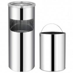 Sonata Хотелски кош-пепелник, 30 л, неръждаема стомана - Обзавеждане на Бизнес обекти