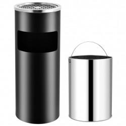 Sonata Хотелски кош-пепелник, 30 л, стомана, черен - Обзавеждане на Бизнес обекти