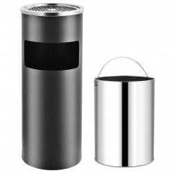 Sonata Хотелски кош-пепелник, 30 л, стомана, сив - Обзавеждане на Бизнес обекти