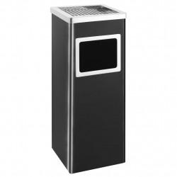 Sonata Хотелски кош-пепелник, 36 л, стомана, черен - Обзавеждане на Бизнес обекти