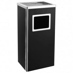 Sonata Хотелски кош-пепелник, 45 л, стомана, черен - Обзавеждане на Бизнес обекти