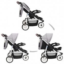 Sonata Бебешка количка триколка, сиво и черно - Детски превозни средства