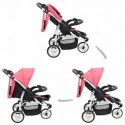 Sonata Бебешка количка триколка, розово и черно - Детски превозни средства