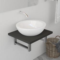 Sonata Обзавеждане за баня, сиво, 40x40x16,3 см - Шкафове за Баня