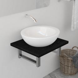 Sonata Обзавеждане за баня, черно, 40x40x16,3 см - Шкафове за Баня