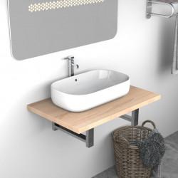 Sonata Обзавеждане за баня, дъб, 60x40x16,3 см - Шкафове за Баня