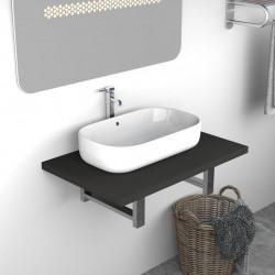Sonata Обзавеждане за баня, сиво, 60x40x16,3 см - Шкафове за Баня
