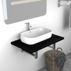 Sonata Обзавеждане за баня, черно, 60x40x16,3 см - Шкафове за Баня