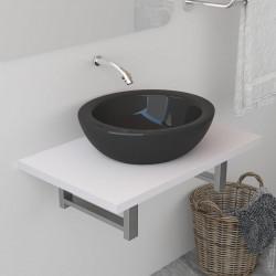 Sonata Обзавеждане за баня, бяло, 60x40x16,3 см - Шкафове за Баня