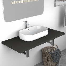 Sonata Обзавеждане за баня, сиво, 90x40x16,3 см - Шкафове за Баня