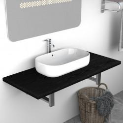 Sonata Обзавеждане за баня, черно, 90x40x16,3 см - Шкафове за Баня