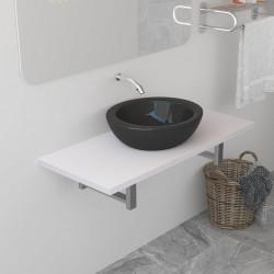 Sonata Обзавеждане за баня, бяло, 90x40x16,3 см - Шкафове за Баня