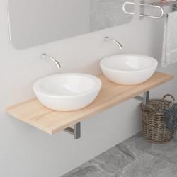 Sonata Обзавеждане за баня, дъб, 120x40x16,3 см - Шкафове за Баня