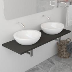 Sonata Обзавеждане за баня, сиво, 120x40x16,3 см - Шкафове за Баня