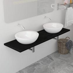 Sonata Обзавеждане за баня, черно, 160x40x16,3 см - Шкафове за Баня
