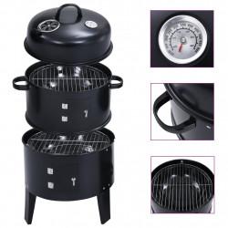 Sonata Опушвач барбекю грил на дървени въглища 3-в-1 40x80 см - Камини, Комини и Печки на дърва