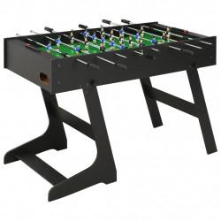 Sonata Сгъваема футболна маса, 121x61x80 см, черна - Спортни Игри