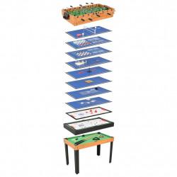 Sonata Мултифункционална игрална маса 15-в-1, 121x61x82 см, клен - Спортни Игри