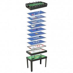 Sonata Мултифункционална игрална маса 15-в-1, 121x61x82 см, черна - Спортни Игри