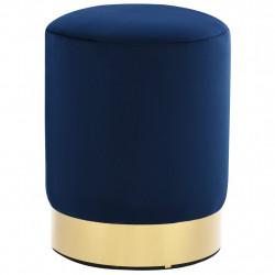 Sonata Табуретка, синьо и златисто, кадифе - Мека мебел