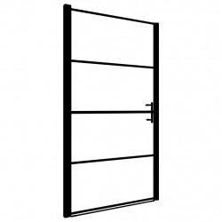 Sonata Врата за душ, закалено стъкло, 91x195 см, черна - Сравняване на продукти
