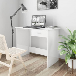 Sonata Бюро, бял гланц, 100x50x76 см, ПДЧ - Офис Бюра