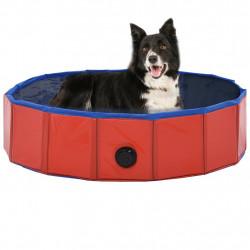 Sonata Сгъваем басейн за кучета, червен, 80x20 см, PVC - Домашни любимци