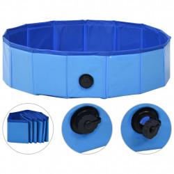 Sonata Сгъваем басейн за кучета, син, 80x20 см, PVC - Домашни любимци