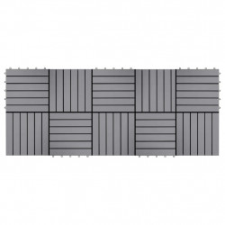 Sonata Декинг плочки, 10 бр, промито сиво, 30х30 см, акация масив - Подови настилки