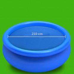 Sonata Покривало за басейн, синьо, 210 см, PE - Басейни и Спа