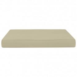 Sonata Палетна възглавница за под, 60x61,5x6 см, кремава, плат - Мека мебел