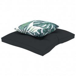 Sonata Палетни възглавници за под, 2 бр, антрацит, текстил - Мека мебел