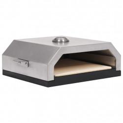 Sonata Пица фурна с керамична плоча за барбекю на газ/въглища - Камини, Комини и Печки на дърва