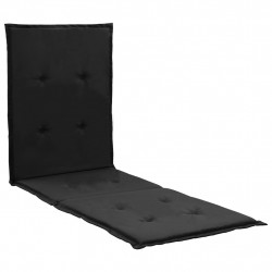 Sonata Шалте за шезлонг, черно, 180x55x3 см - Шезлонги