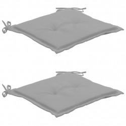 Sonata Възглавници за градински столове, 2 бр, сиви, 50x50x3 см - Градински столове