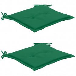 Sonata Възглавници за градински столове, 2 бр, зелени, 50x50x3 см - Градински столове