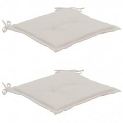 Sonata Възглавници за градински столове, 2 бр, кремави, 50x50x3 см - Градински столове