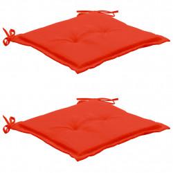 Sonata Възглавници за градински столове, 2 бр, червени, 50x50x3 см - Градински столове