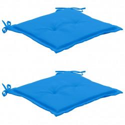 Sonata Възглавници за градински столове, 2 бр, сини, 50x50x3 см - Градински столове