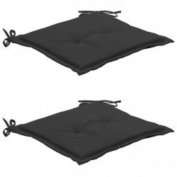 Sonata Възглавници за градински столове, 2 бр, антрацит, 50x50x3 см - Градински столове