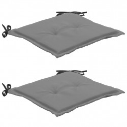 Sonata Възглавници за градински столове 2 бр черно и сиво 50x50x3 см - Градински столове