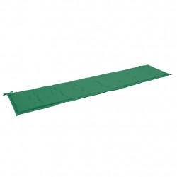 Sonata Възглавница за градинска пейка, зелена, 200x50x3 см - Градински Дивани и Пейки