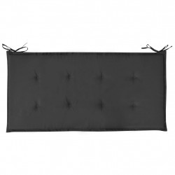 Sonata Възглавница за градинска пейка, черна, 120x50х3 см - Градински Дивани и Пейки