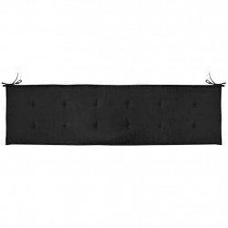 Sonata Възглавница за градинска пейка, черна, 180x50х3 см - Градински Дивани и Пейки
