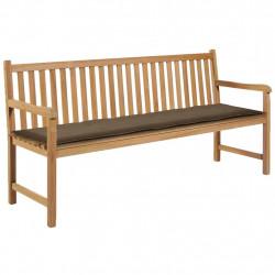 Sonata Възглавница за градинска пейка, таупе, 180x50х3 см - Градински Дивани и Пейки