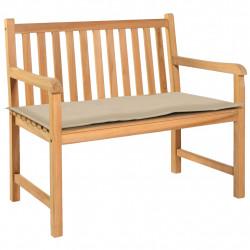 Sonata Възглавница за градинска пейка, бежова, 120x50х3 см - Градински Дивани и Пейки