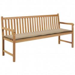 Sonata Възглавница за градинска пейка, бежова, 180x50х3 см - Градински Дивани и Пейки