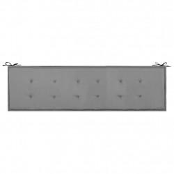 Sonata Възглавница за градинска пейка, черна и сива, 180x50х3 см - Градински Дивани и Пейки